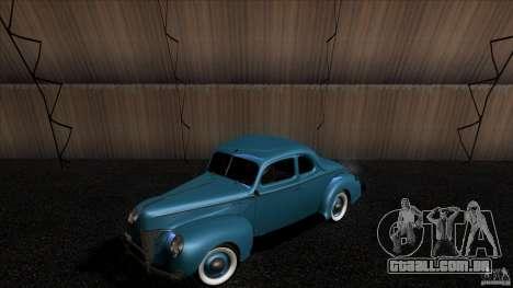 Ford Deluxe Coupe 1940 para GTA San Andreas vista traseira