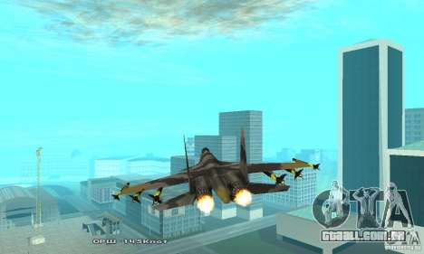 Su-37 Terminator para GTA San Andreas vista interior