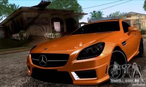 Mercedes Benz SLK55 R172 AMG para GTA San Andreas traseira esquerda vista
