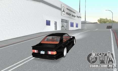 Mercedes-Benz C126 500SEC KS para GTA San Andreas esquerda vista