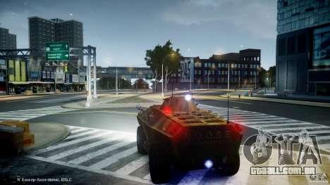 Camo APC para GTA 4 vista de volta