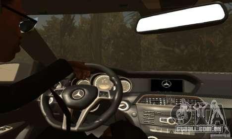 Mercedes-Benz C63 AMG para as rodas de GTA San Andreas