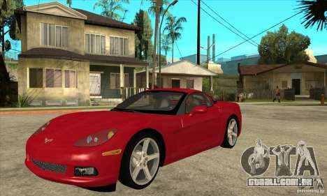 Chevrolet Corvette C6 Z51 - Stock para GTA San Andreas