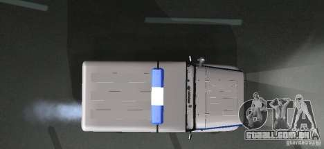 UAZ-31512 polícia para GTA San Andreas vista interior