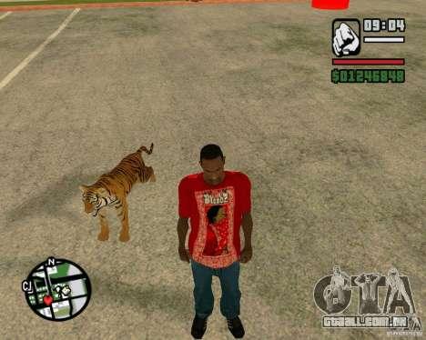 Tigre no GTA San Andreas para GTA San Andreas por diante tela