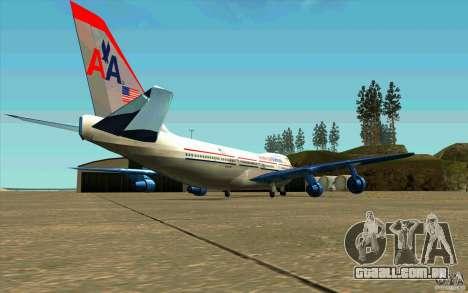 B-747 American Airlines Skin para GTA San Andreas vista direita