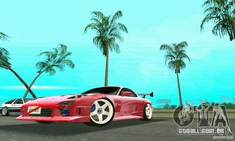 Mazda RX7 Charge-Speed para GTA Vice City vista traseira esquerda
