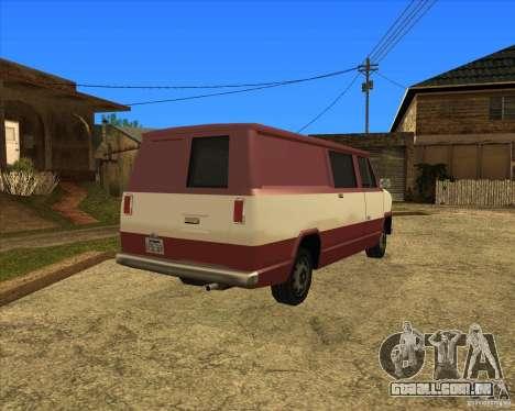 Transporter 1987 - GTA San Andreas Stories para GTA San Andreas traseira esquerda vista