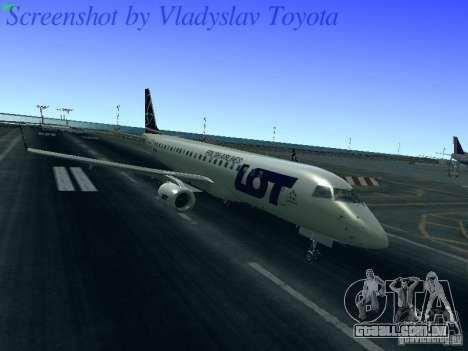 Embraer ERJ 190 LOT Polish Airlines para GTA San Andreas esquerda vista