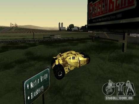 Army Tumbler v2.0 para GTA San Andreas traseira esquerda vista