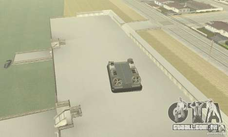 Landing Craft Air Cushion para GTA San Andreas vista traseira
