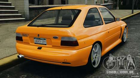 Ford Escort RS Cosworth para GTA 4 traseira esquerda vista