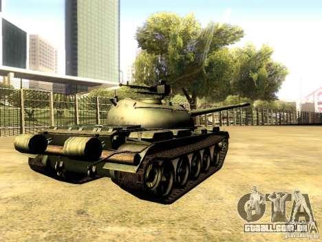 Type 59 V2 para GTA San Andreas traseira esquerda vista