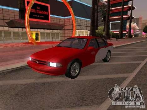 Chevrolet Impala SS 1995 para GTA San Andreas vista superior