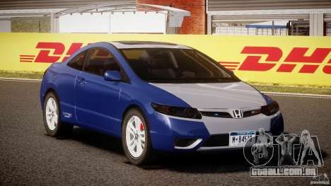 Honda Civic Si Coupe 2006 v1.0 para GTA 4 vista de volta