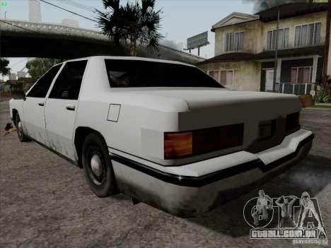 New Elegant para GTA San Andreas esquerda vista