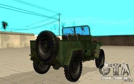 Gaz-67 para GTA San Andreas traseira esquerda vista