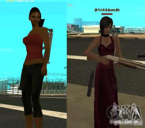Pak personagens de Resident Evil para GTA San Andreas segunda tela