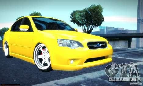 Subaru Legacy BIT edition 2004 para GTA San Andreas traseira esquerda vista