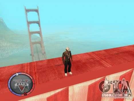 GTA 5 HUD para GTA San Andreas quinto tela