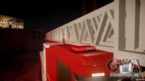 Scania Fire Ladder v1.1 Emerglights red [ELS] para GTA 4 interior