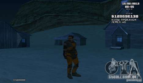 Gordon Freeman para GTA San Andreas terceira tela