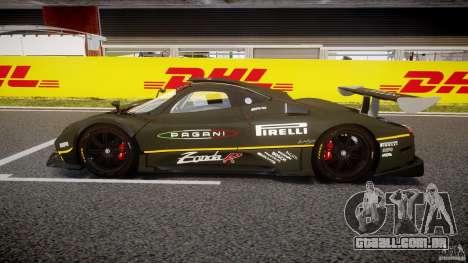 Pagani Zonda R 2009 para GTA 4 esquerda vista