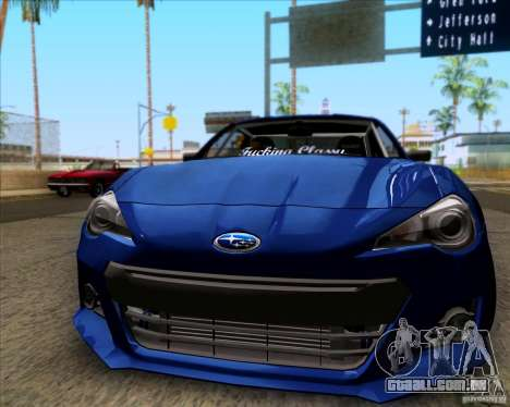 Subaru BRZ Stance para GTA San Andreas esquerda vista