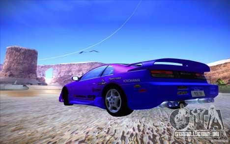 Nissan 300ZX Twin Turbo para GTA San Andreas vista inferior
