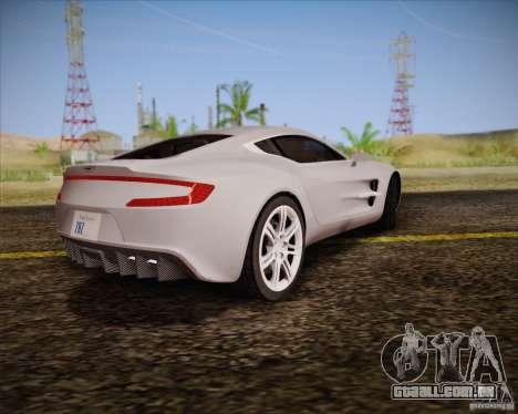 Aston Martin One-77 para GTA San Andreas vista interior