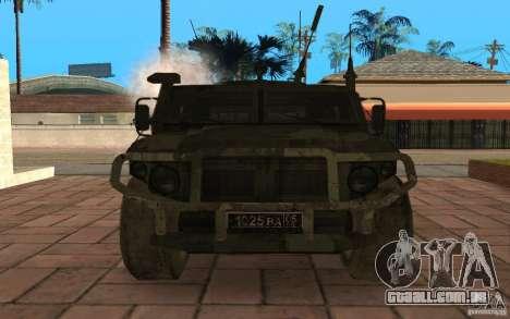 Gaz 2975 Tiger para GTA San Andreas vista interior