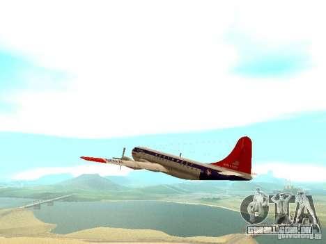 Boeing 377 Stratocruiser para GTA San Andreas vista traseira