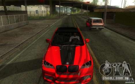 Bmw X6 M Lumma Tuning para GTA San Andreas vista interior