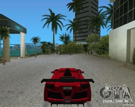 Gumpert Apollo Sport para GTA Vice City vista traseira esquerda