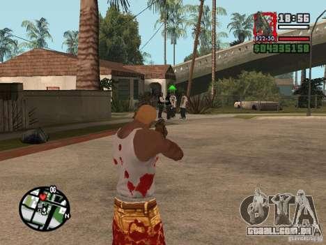 BulletStorm M4 para GTA San Andreas terceira tela
