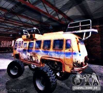 Bullet Storm Bus para GTA San Andreas vista traseira