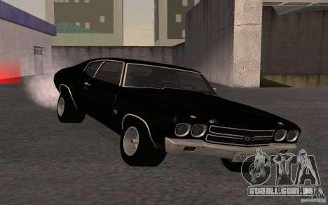 Chevrolet Chevelle SS para GTA San Andreas vista traseira