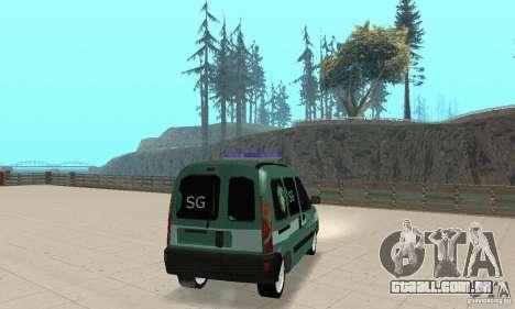 Renault Kangoo Straz Graniczna para GTA San Andreas esquerda vista