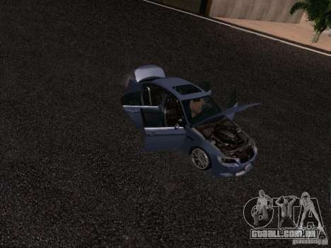 BMW M3 E90 Sedan 2009 para GTA San Andreas vista superior