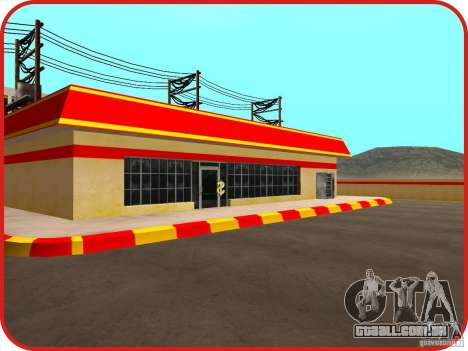 Novo posto de gasolina Shell para GTA San Andreas quinto tela