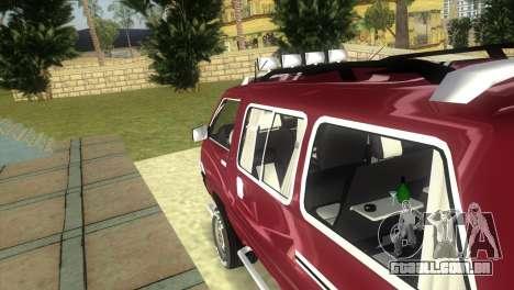 Toyota Town Ace-Tuning para GTA Vice City vista traseira