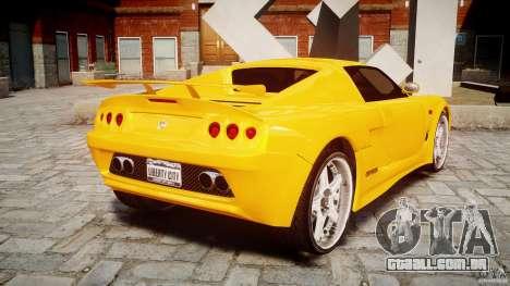 Watson R-Turbo Roadster para GTA 4 traseira esquerda vista