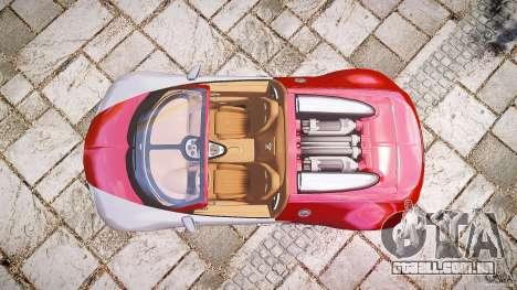 Bugatti Veyron Grand Sport [EPM] 2009 para GTA 4 traseira esquerda vista