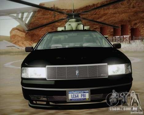 GTA IV Primo para GTA San Andreas traseira esquerda vista