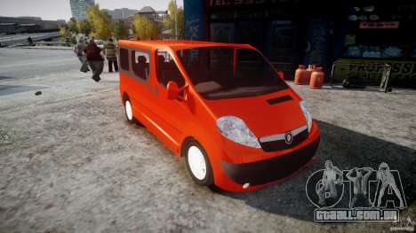 Renault Trafic para GTA 4 vista direita