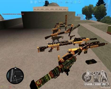 Smalls Chrome Gold Guns Pack para GTA San Andreas segunda tela