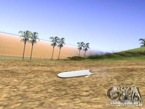 Aèrobord do filme de volta para o futuro 2 para GTA San Andreas esquerda vista