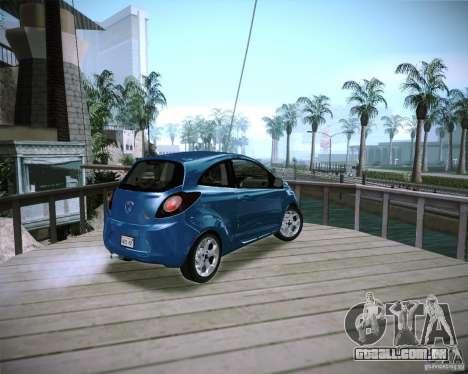 Ford Ka 2011 para GTA San Andreas esquerda vista