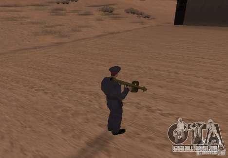 Panzerschreck para GTA San Andreas terceira tela