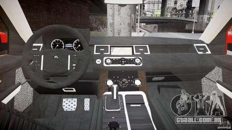 Range Rover Sport para GTA 4 vista de volta